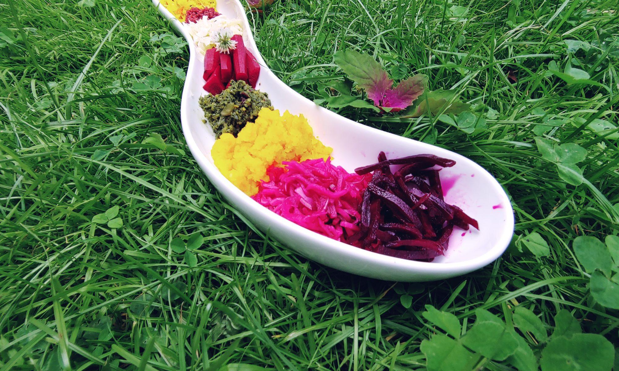 Köstliche Kostproben: bunt fermentiertes Gemüse