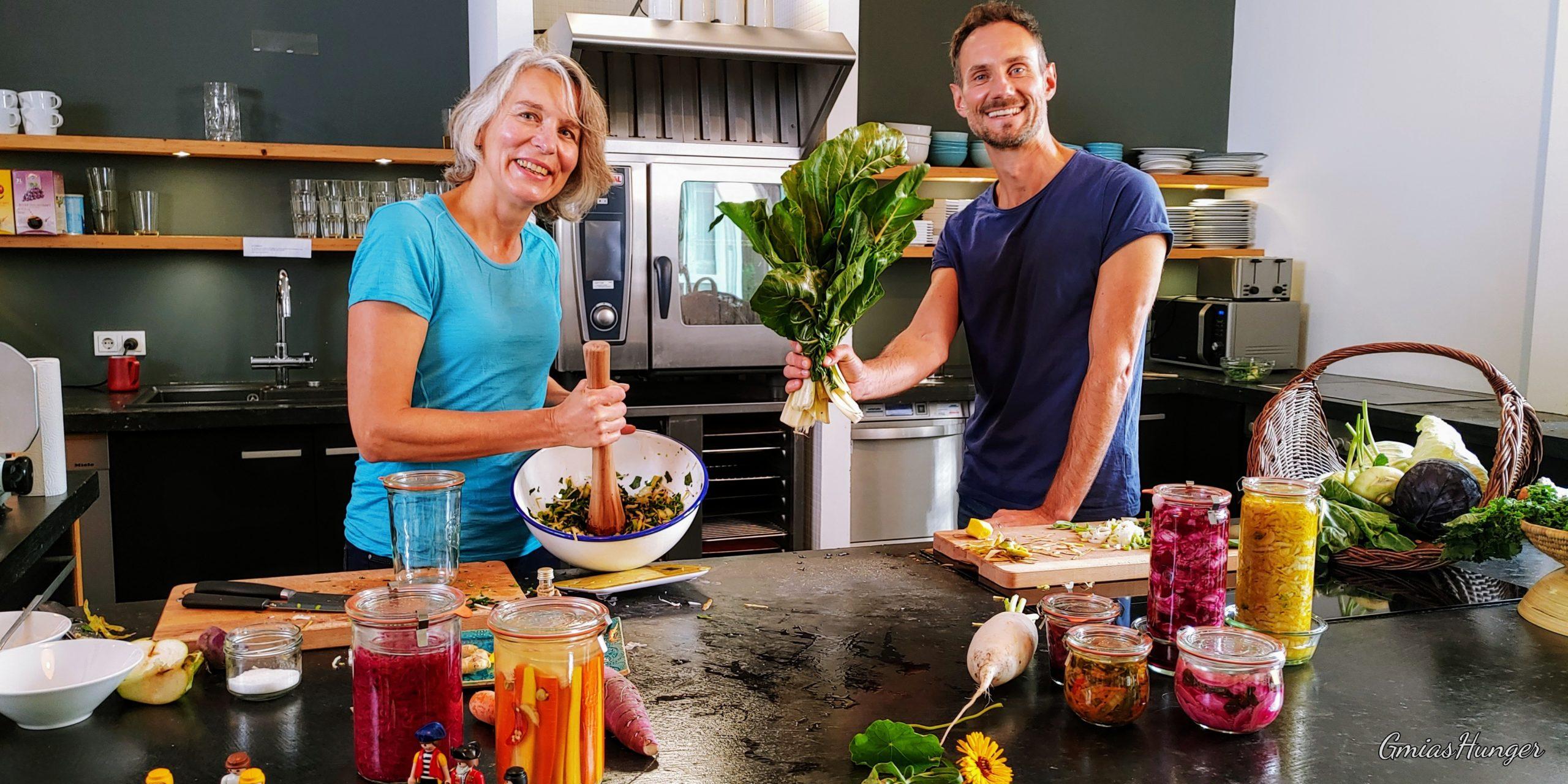 Fermentieren im BR Fernsehen – Bayrisches Kimchi und Rosa Kraut