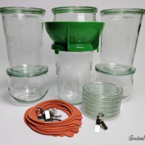 Fermentier-Gläser 6er-Mix-Set + Einfüllhilfe